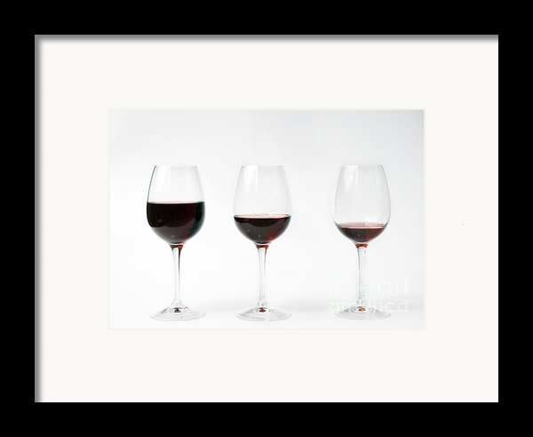 Three Glasses Of Wine  Framed Print By Patricia Hofmeester