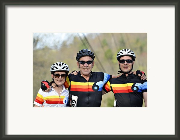 Three Gran Fondo Riders Framed Print By Susan Leggett