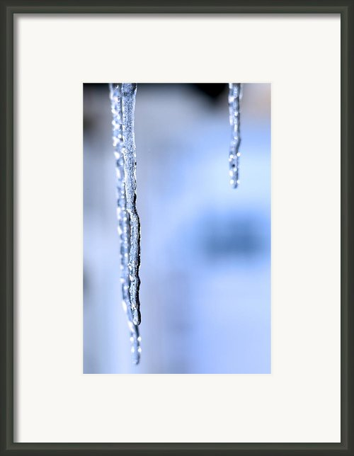 Three Icicles  Framed Print By Tommy Hammarsten
