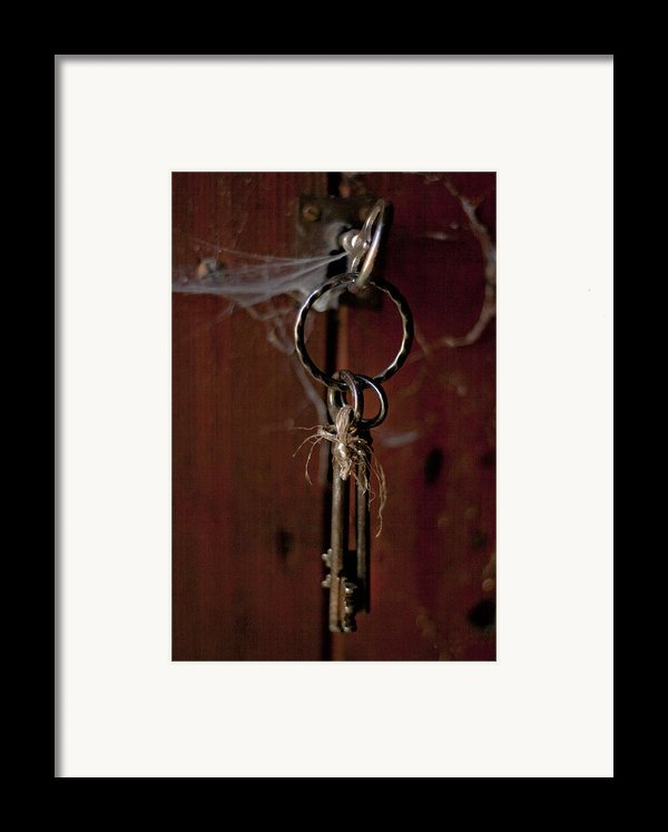 Three Keys Framed Print By Nomad Art And  Design