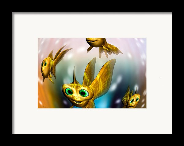 Three Little Fishies And A Mama Fishie Too Framed Print By Bob Orsillo