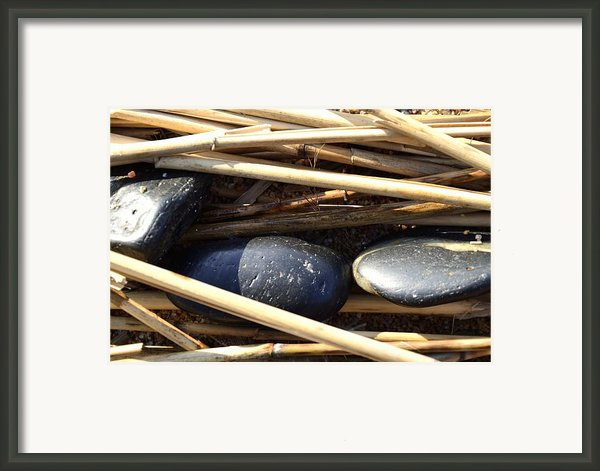 Three Stones On Seagrass Framed Print By Tommy Hammarsten