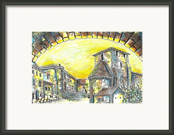 Through The Archway Framed Print By Anne Dalton