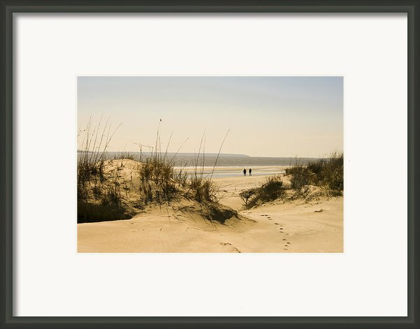 Through The Dunes Framed Print By Barbara Marie Kraus
