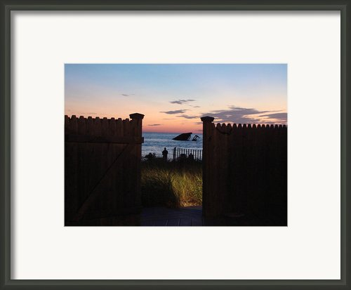 Through The Gate Framed Print By Brenda Conrad