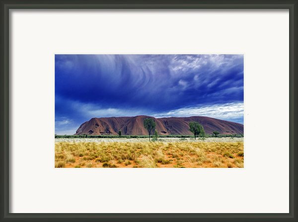 Thunder Rock Framed Print By Holly Kempe
