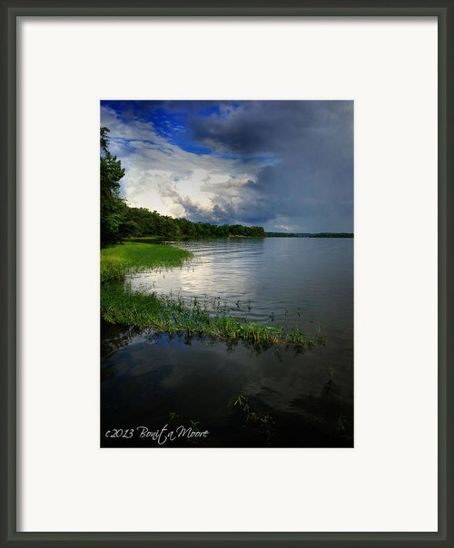 Thunderstorm On The Water Framed Print By Bonita Moore