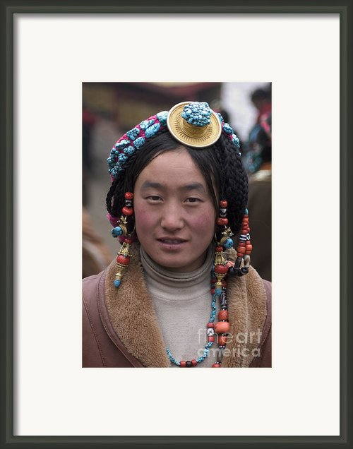 Tibetan Beauty - Kham Framed Print By Craig Lovell