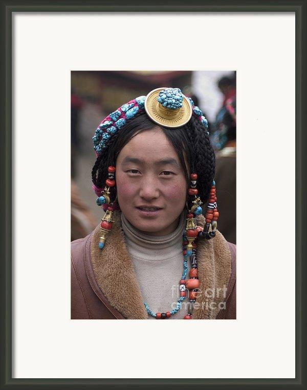 Tibetan Beauty - Kham Framed Print By Craig Lovell