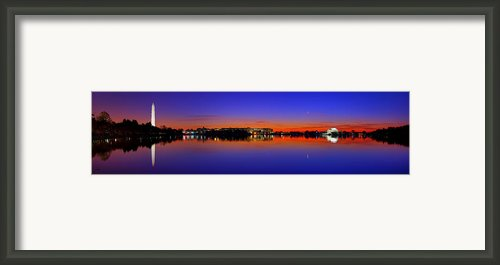 Tidal Basin Sunrise Framed Print By Metro Dc Photography