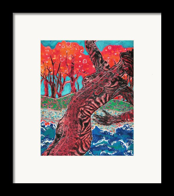Tiger Lady Framed Print By Diane Fine