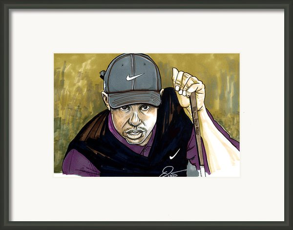 Tiger Woods Framed Print By Dave Olsen
