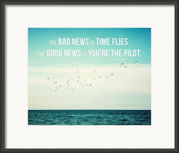 Time Flies Framed Print By Lisa Russo