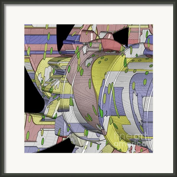 Time Mechanics - Drum Macro 2g - 08112012 Framed Print By Michael C Geraghty