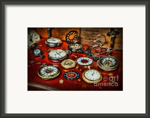 Time - Pocket Watches  Framed Print By Paul Ward