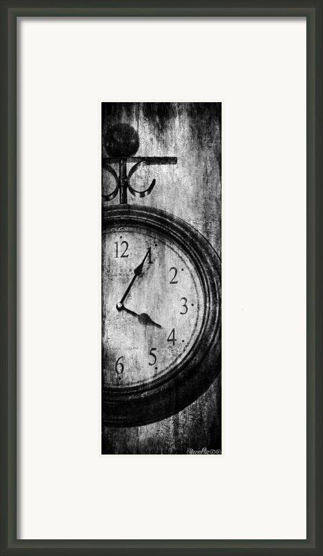 Time Framed Print By Sheena Pike