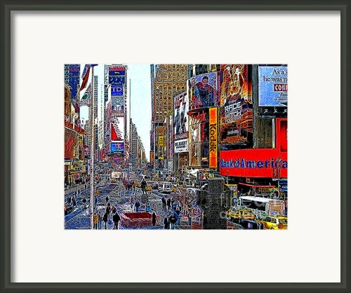 Time Square New York 20130503v4 Framed Print By Wingsdomain Art And Photography