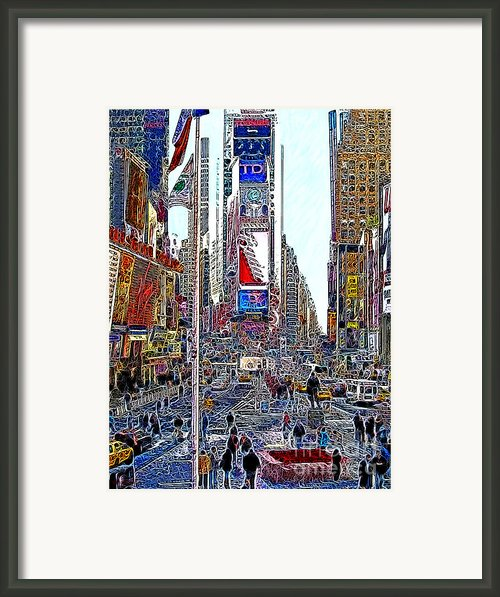 Time Square New York 20130503v6 Framed Print By Wingsdomain Art And Photography