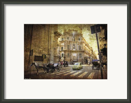 Time Traveling In Palermo - Sicily Framed Print By Madeline Ellis