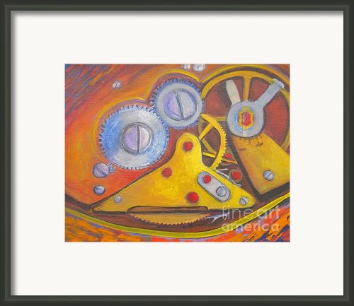 Time Unfolding Study Framed Print By Vivian Haberfeld