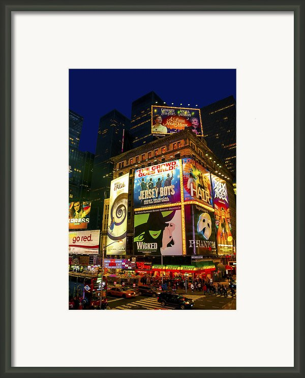 Times Square Framed Print By Svetlana Sewell