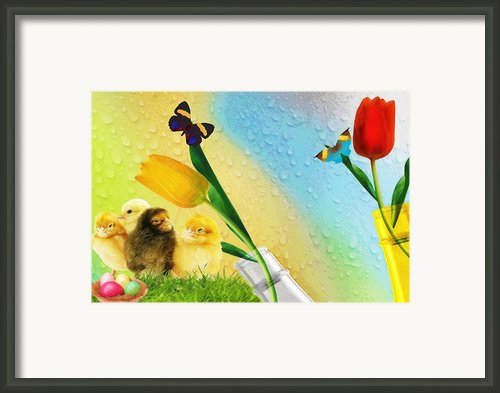 Tiptoe Through The Tulips Framed Print By Liane Wright