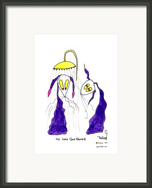 Tis Long Cold Shower Framed Print By Tis Art