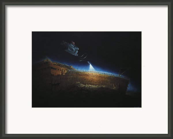 Titanic Wreck Save Our Souls Framed Print By Martin Davey