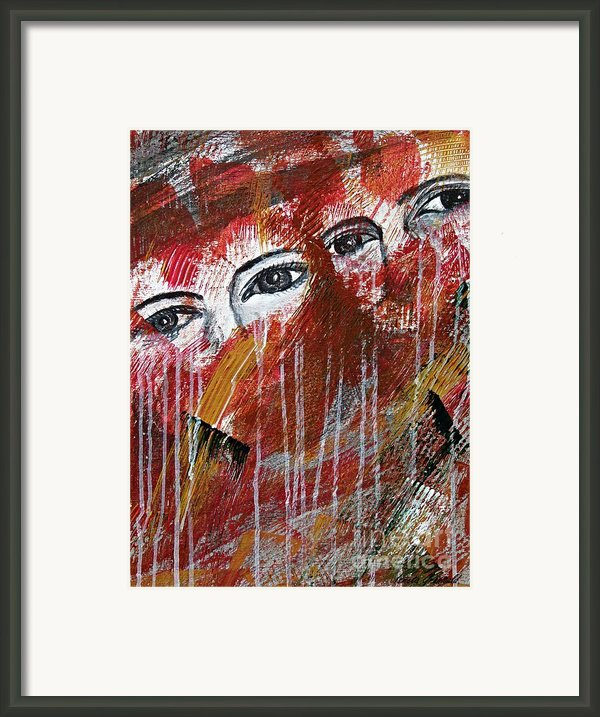 Together- Abstract Art Framed Print By Ismeta Gruenwald