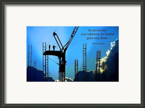 Tolerance For Bs Framed Print By Mike Flynn