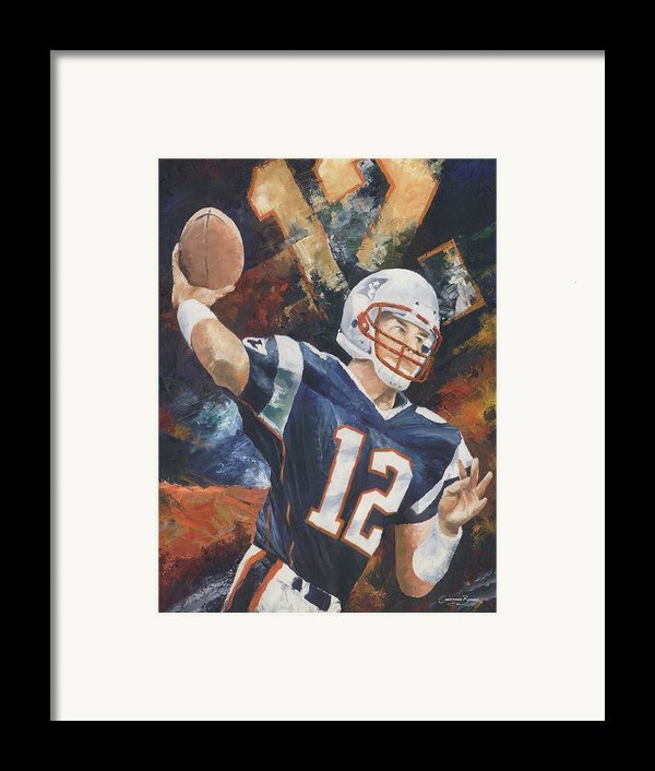 Tom Brady Framed Print By Christiaan Bekker