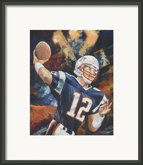 Tom Brady Framed Print By Christiaan Bekker