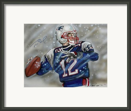 Tom Brady Framed Print By Dave Olsen