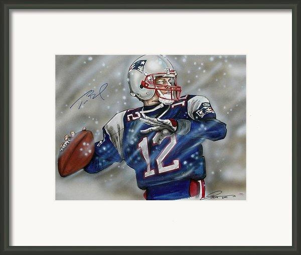Tom Brady Framed Print By Dave Olsen