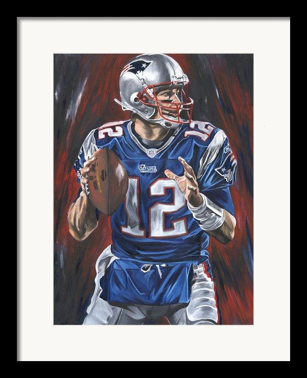 Tom Brady Framed Print By David Courson