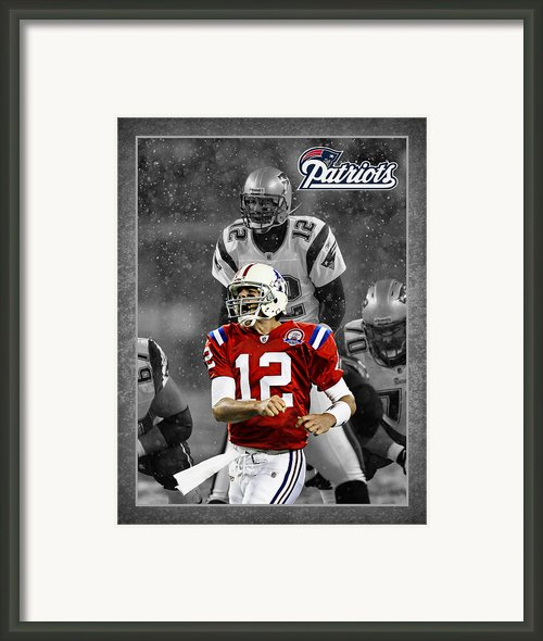 Tom Brady Patriots Framed Print By Joe Hamilton