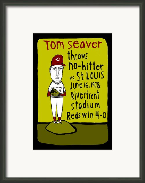 Tom Seaver Cincinnati Reds Framed Print By Jay Perkins