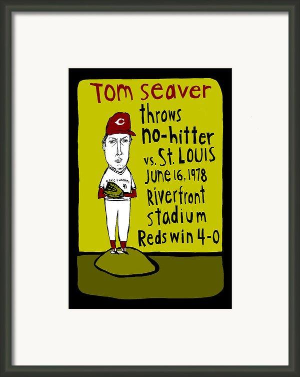 Tom Seaver Cincinnati Reds Framed Print By Jay Perkins