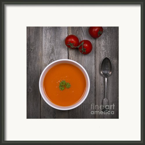 Tomato Soup Vintage Framed Print By Jane Rix