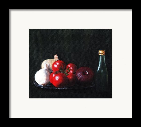 Tomatoes And Onions Framed Print By Anastasiya Malakhova