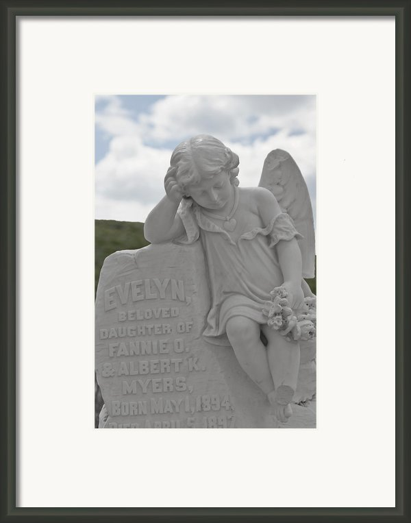 Tombstone Angel For An Angel Framed Print By Christine Till