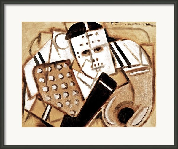 Tommervik Vintage Hockey Goalie Framed Print By Tommervik