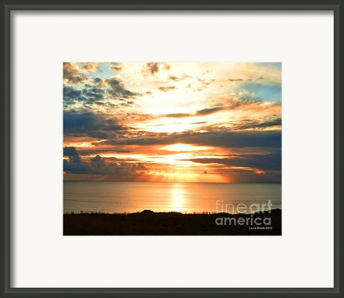 Tomorrow Is A New Day- Beach At Sunset Framed Print By Author And Photographer Laura Wrede