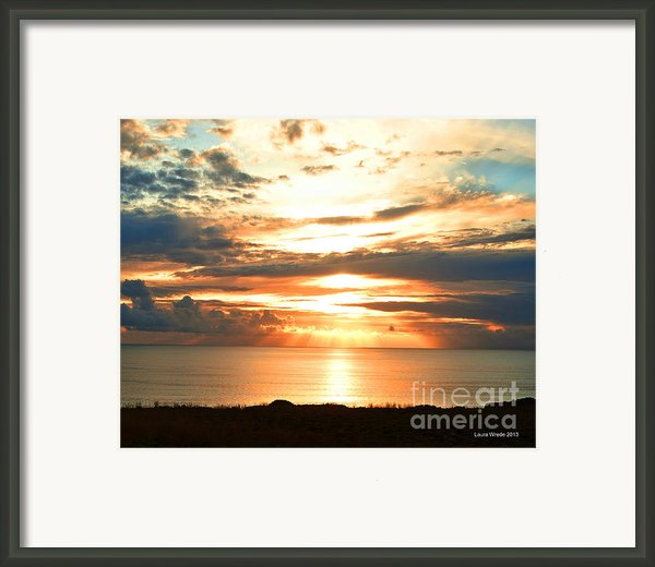 Tomorrow Is A New Day- Beach At Sunset Framed Print By Artist And Photographer Laura Wrede