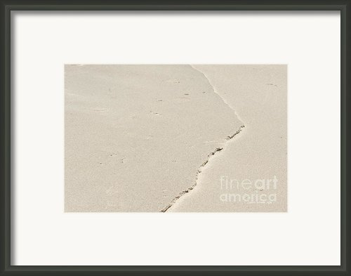 Torn Sand Framed Print By Author And Photographer Laura Wrede