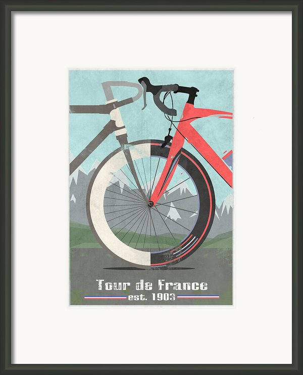 Tour De France Bicycle Framed Print By Andy Scullion