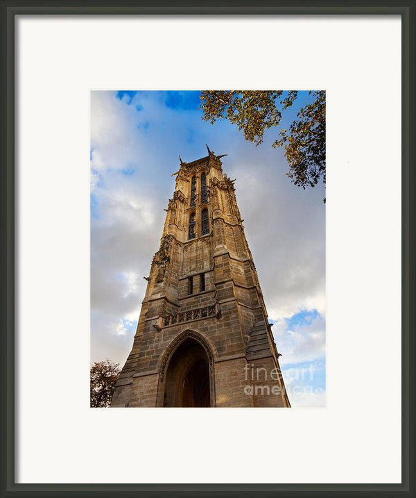 Tour St Jacques In Autumn Paris Framed Print By Louise Heusinkveld