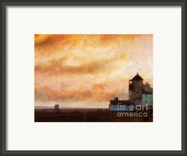 Towards The Shore Framed Print By Pixel Chimp