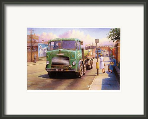 Tower Hill Transport. Framed Print By Mike  Jeffries