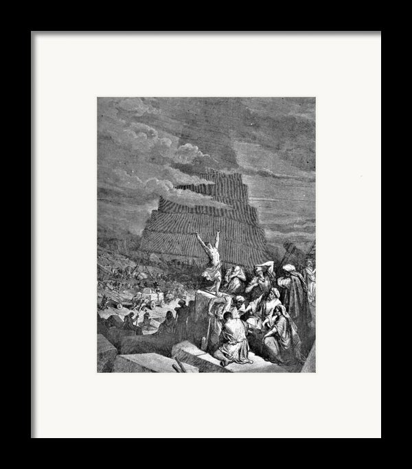 Tower Of Babel Bible Illustration Framed Print By